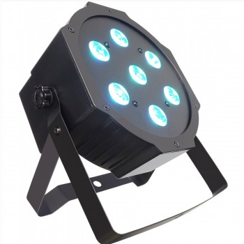 LP28W MINI LED SLIM PAR 7x4W QUAD RGBW